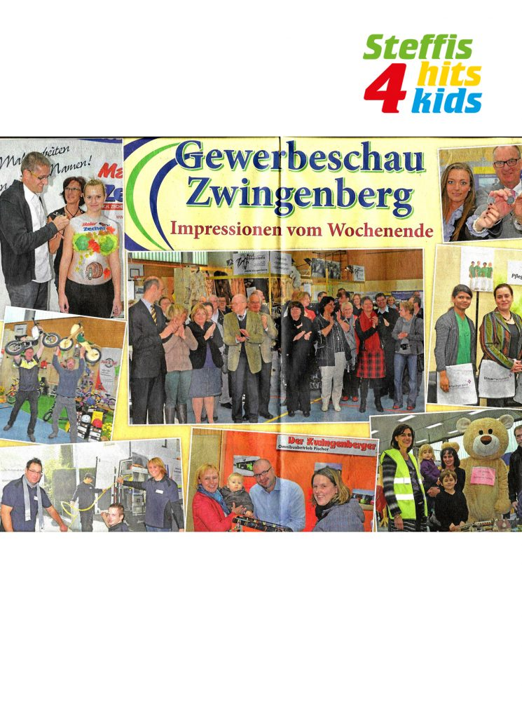 Steffis-Hits-for-Kids_Presse_Gewerbeschau Zwingenberg_Der Bergsträßer